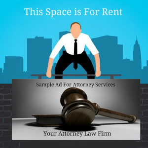 Ad space for rent attorney demo