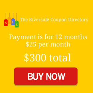 The Riverside Coupon Directory 12 months for 300