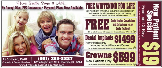 coupon Riverside Cosmetic Dentist
