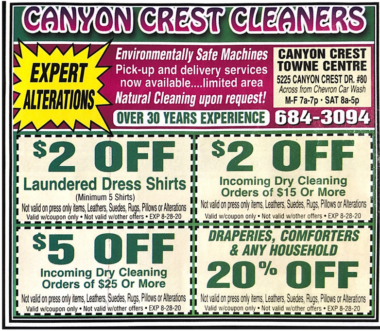 coupon Canyon Crest Cleaners