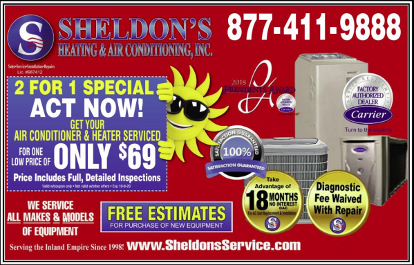 Coupon Sheldon's Heating and Air Conditioning